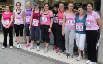TEAM BLUE FLAMINGO Race for Life 17.07.11